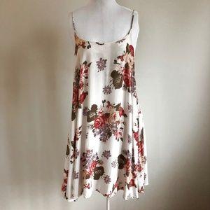 Brandy Melville Dresses - Floral Tank Midi Dress Spaghetti Straps OS